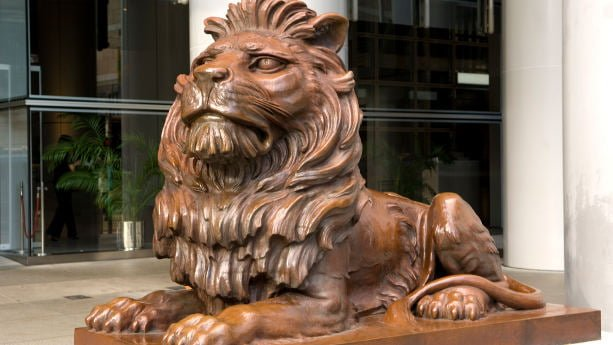 hsbc bronze lion