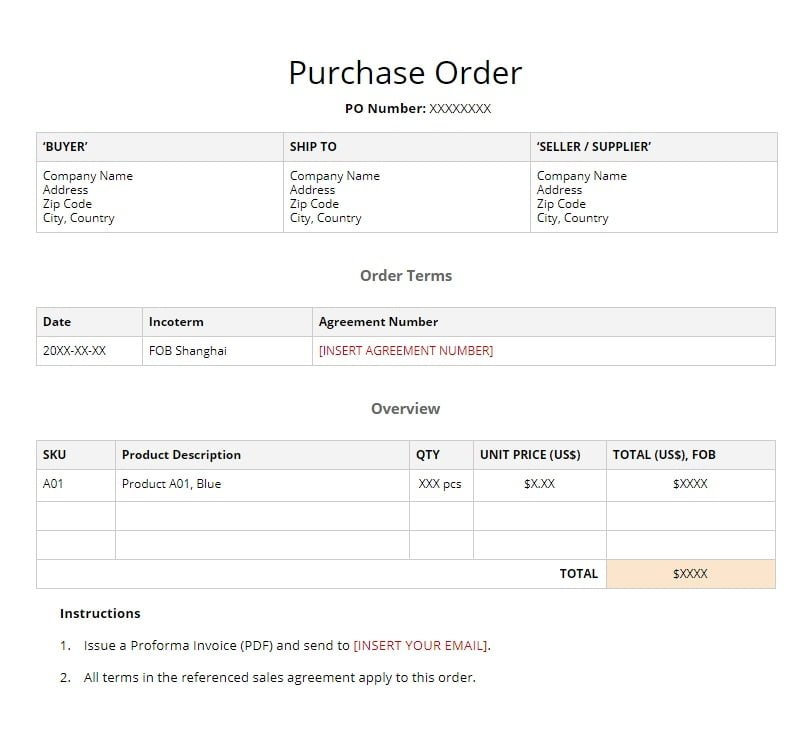 What Is A Purchase Order And Proforma Invoice