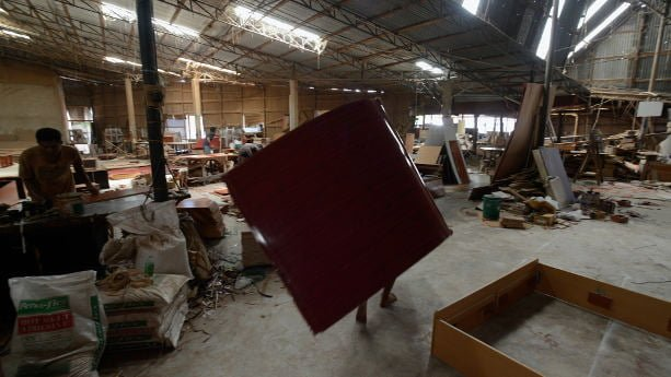 Furniture factory floor